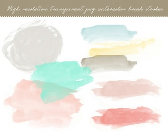 Hand Painted Photoshop Brush Strokes - Instant Download - 8x10