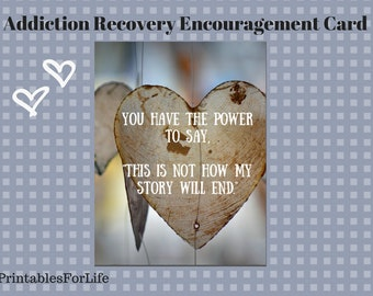 Addiction Recovery Encouragement card