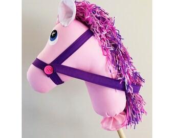 Handmade Pink and purple Hobby Horse Pony