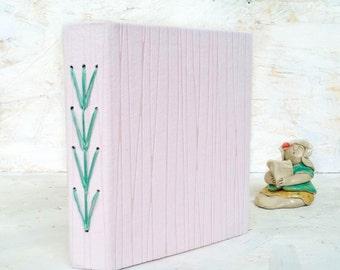 Arrowhead , Baby Pink Sketchbook , Blank Art Journal , Handbound Book , Sketch Book , Scrapbook , Handbound Journal