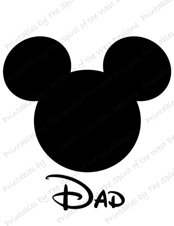 mickey mouse head dad image use as iron on or clip art mouse rh etsy com mickey mouse ears silhouette clip art free mickey mouse ears clip art