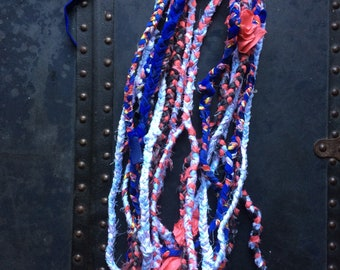 One to Ten - OOAK Handmade Braided Fabric Necklace