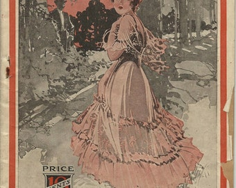 Rare Romance Dime Novel The Forbidden Path by Helen Glyn Kinglsley, Published in 1916 Rare First Story Installment of the Romance Serial