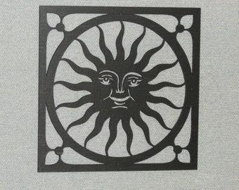 Happy Sun Face Wall Decor Laser Cut Wood Art