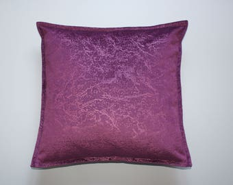Violet soft chenille pillow cover