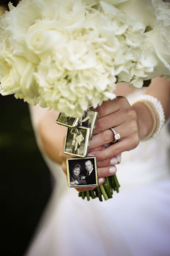 Make Your Own Bridal Bouquet: 4 KITS To Make Your Own Wedding Bouquet Charms Photo Pendants