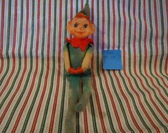 Knee Hugging Blue Eyed Christmas Elf - Vintage  - #100