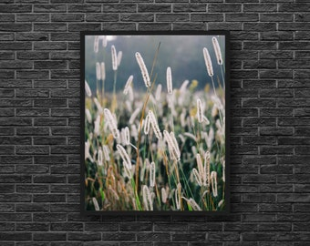 Field Grasses Photography - Herbs Photo - Rural Photo - Fields Photo - Botanic Photography - Vertical - Rural Wall Decor - Botanic Decor
