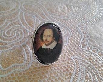 William Shakespeare Ring - Handmade, Unique (FREE or LOW COST shipping)