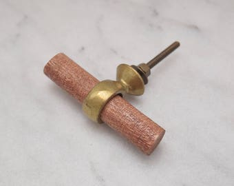 Gold Drawer Knobs With Wood Handle, Heavy Brass, Drawer Pull, Cabinet Pull, Cabinet Knobs