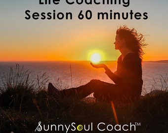 Life Coaching Session 60 minutes, SunnySoul Coach, Stress Relief, Calming, Increase Focus, Emotional Freedom, EFT, Tapping, Meridians, Goals