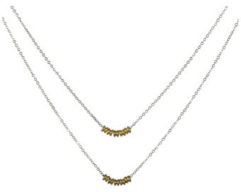 Double Layer Guitar String Ball End Necklace
