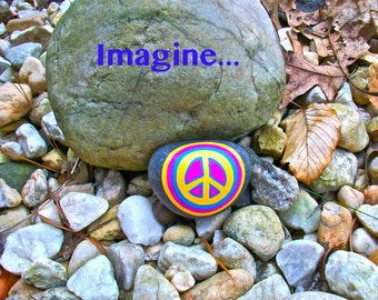 Imagine Peace Rock Print