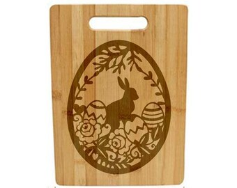 Laser Engraved Cutting Board - 058 - Easter