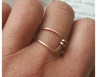 Copper belt ring wire ring, minimalist ring, friendship rings boho ring, best friend gift, hammered ring, wire wrapped ring, copper ring