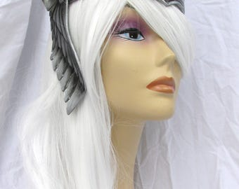 Circlet, Viking, Valkyrie Crown, Leather crown, Thor, Silver crown, Cosplay, Theater Prop, Headwear, LARP,  Amazon, Role Play