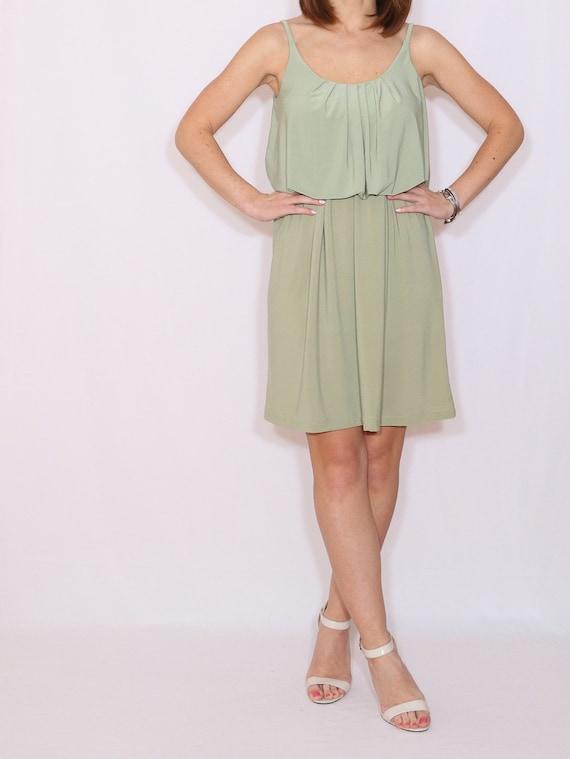 Salbei grün Brautjungfer Kleid kurze Party-Kleid