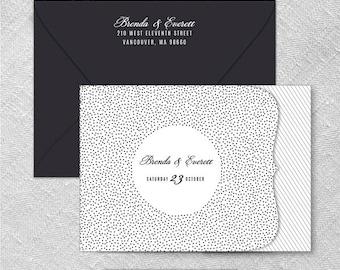 Confetti All Inclusive Wedding Invitation Sample