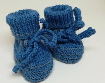 Wool baby shoes / / newborn baby booties