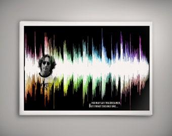 PRIDE John Lennon Imagine Waveform