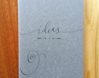 Ideas Ruled Moleskine : Handwritten