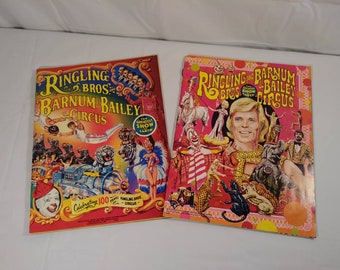 Vintage Ringling Brother Barnum and Bailey Circus Souvinor Program Magazine Lot