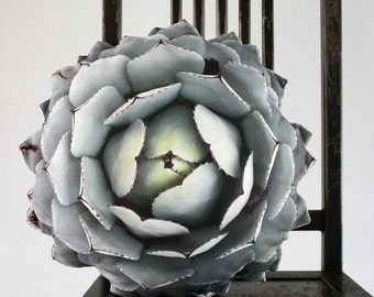 Succulent pillow made to order (Agave parryi var truncata)