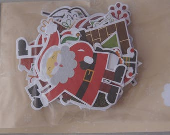 SET OF 56 CHRISTMAS TOGA PAPER EMBELLISHMENTS