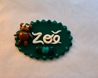 """Support name baby room or cake decoration """"Zoé"""""""