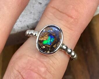 Boulder Opal Ring - US 5