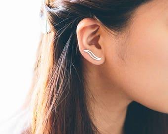 Zephyr Ear Pin Earrings (3 colors)
