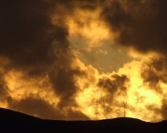 Sunset over the Wicklow Mountains