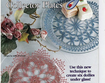 Doily Collector Plates Crochet Pattern Book House of White Birches 101085