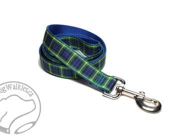 Gordon Clan Tartan Leash // Matching Tartan Dog Leash in all widths // custom lengths // Plaid Leashes // Tartan Lead // Handmade