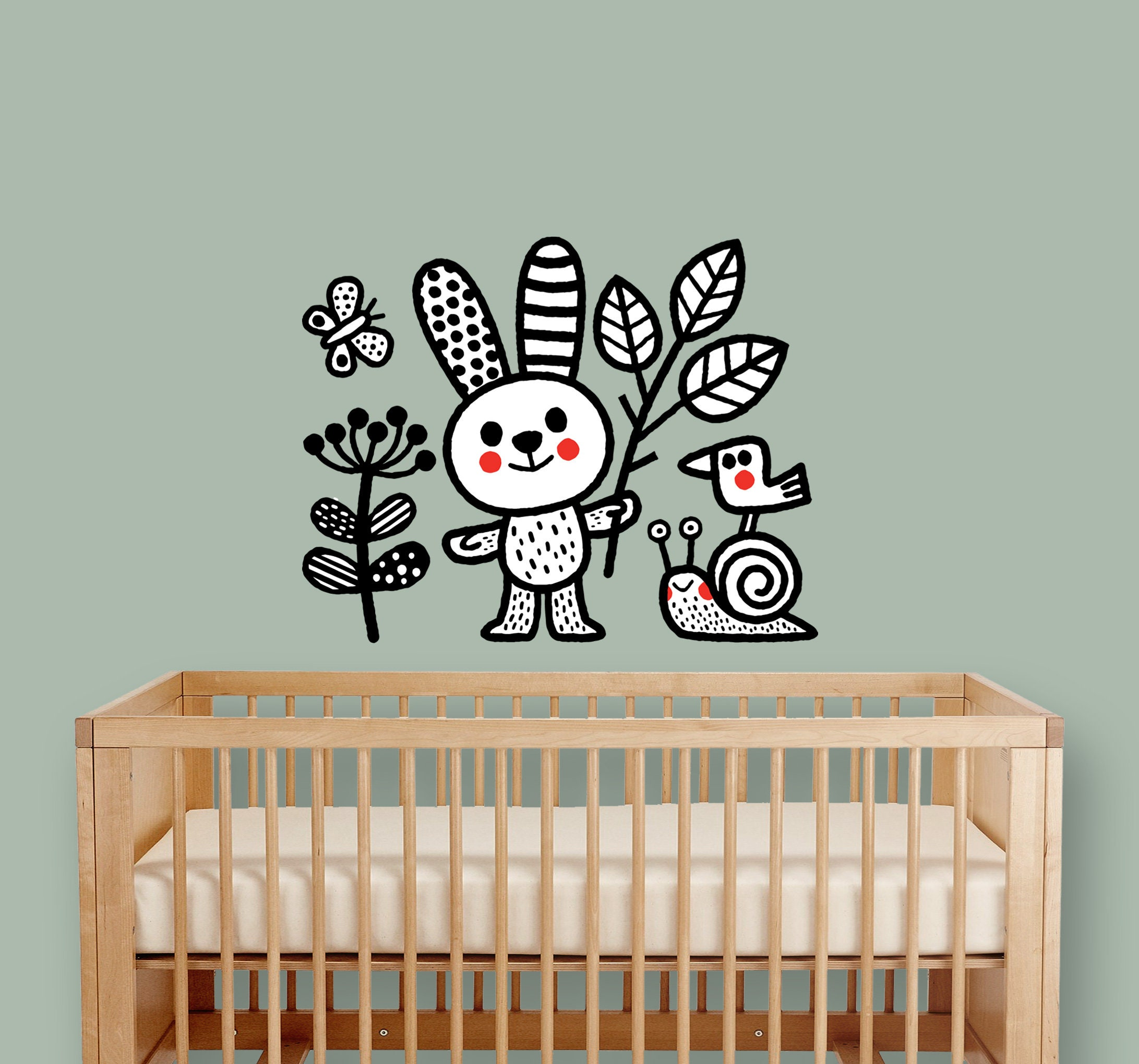 Bunny And His Friends   Nursery Wall Sticker   Wall Decal   Home Decor    Wall Art   Home Decoration   Nursery Wall Decor   Nursery Stickers