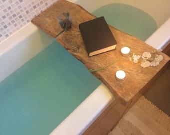 Bath board, Unique bathboard. live edge bath board, spalted bath board, Wych Elm live edge Valentines present, bath furniture, live edge