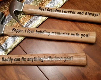 Father's day gift, Gift for Dad, Gift for Poppa, Hammer, Custom Hammer, Personalized hammer, Gift for him, Custom father's day gift