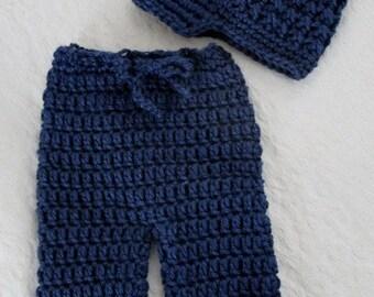 Crochet PATTERN - Crochet Newsboy Hat Pattern - Baby Pant Crochet Pattern - Crochet Hat Pattern - Crochet Pattern Baby - Photo Prop -PDF 141