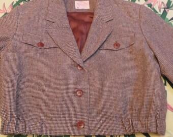 Jacket short pendleton style hollywood year 1950 s!
