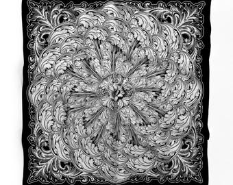 Silk Renaissance Scarf - Cornice