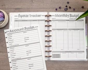 FINANCE Letter Happy Planner Budget Inserts, Circa Planner Finance Kit, Financial Planning, Debt Snowball, Create 365 Planner Refills