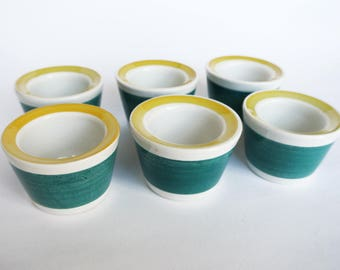 Rare egg cups from Picknick series by Marianne Westman. By Rörstrand, Sweden.