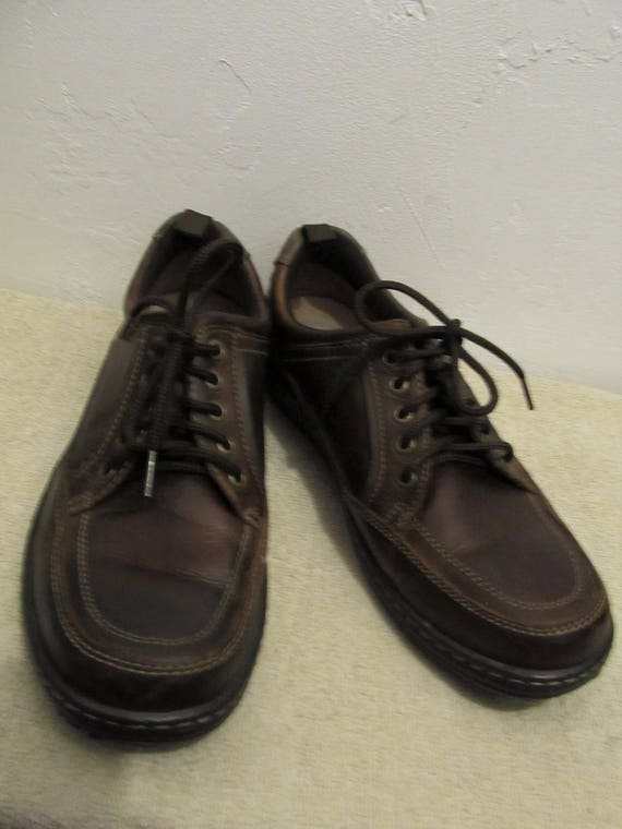 Brown FiT EUR0 HUSH Men's Vintage 10 90's PUPPIES Style Casual Oxfords 5M DUAL By dFqYqIB