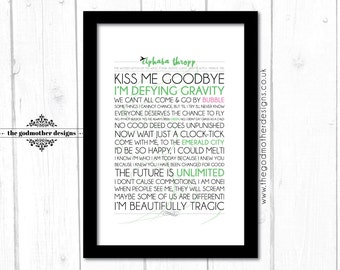 Printable wicked broadway musical lyrics chance to fly word elphaba thropp wicked broadway quotes lyrics typography print stopboris Image collections