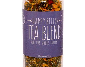 Herbal Tea, Happy Belly, Organic, Healthy Digestion, Digestive Healing, Leaky Gut, Repair