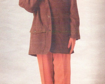 80s Perry Ellis Womens Below Hip Jacket & Pants Vogue Sewing Pattern 2412 Size 8 10 12 Bust 31 1/2 to 34 Vogue American Designer