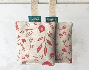 Scent sachets // Perfumed sachet set // Lavender sachet // Drawer sachet // Organic sachet // Hand-printed sachet // Lavender bag