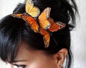 butterfly headband - butterfly hair accessory - bohemian hair - bridal butterfly headpiece - bridesmaid headband - women's gift - MARISSA