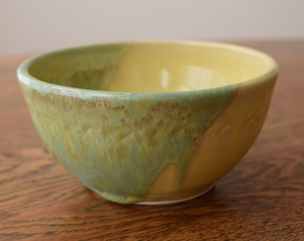 Bowl in Yellow and Spring Green