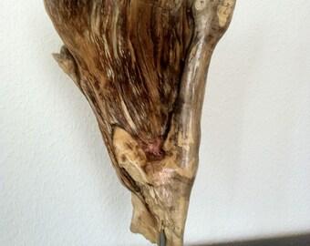 Wooden sculpture artificial wood handcrafted handmade